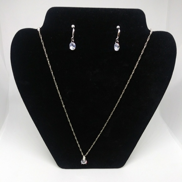 Jewelry - New earring & necklace silver jewelry set